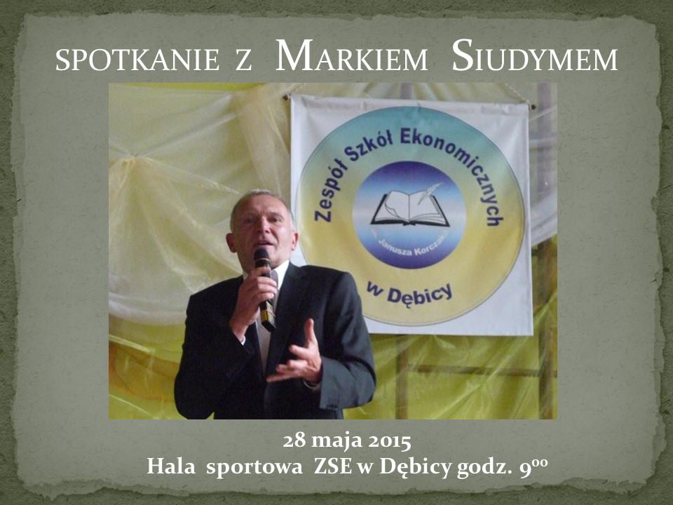 Spotkanie z Markiem Siudymem 29 maja 2015