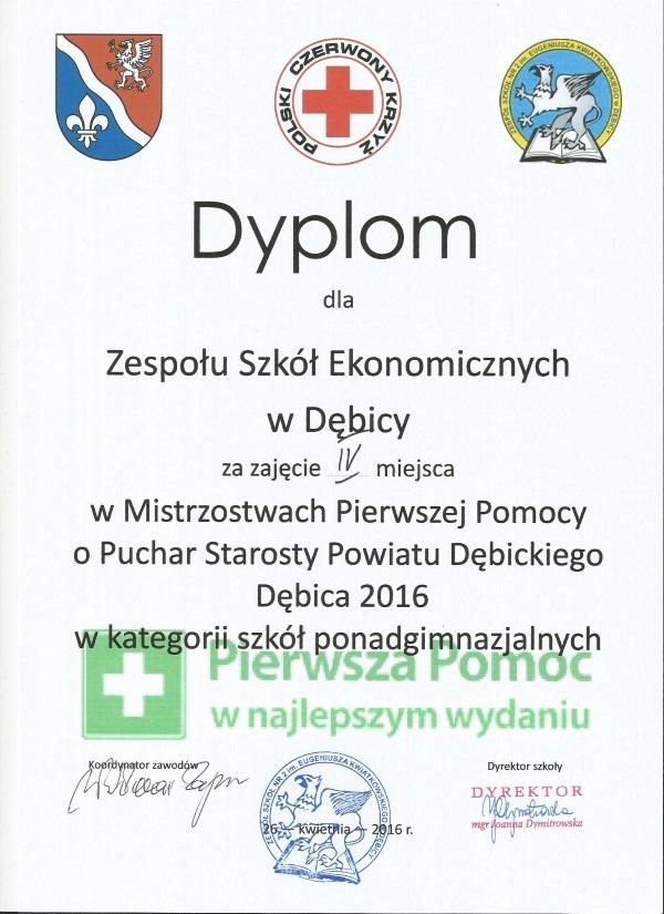 Mistrzostwa Pierwszej Pomocy o Puchar Starosty Powiatu Dębickiego – Dębica 2016