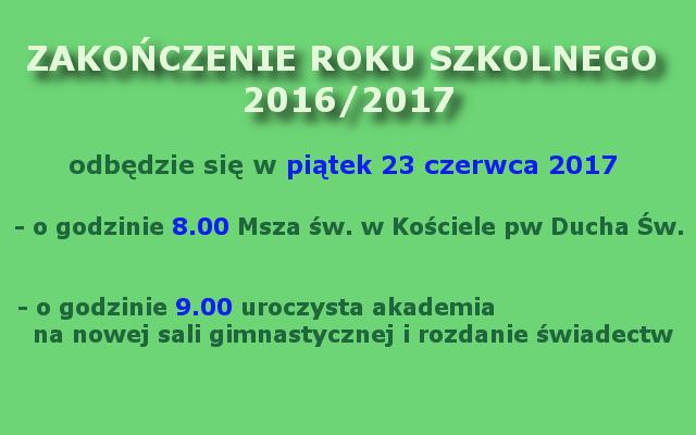 zakończenie roku 2016-2017