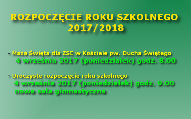 Rozpoczęcie roku szkolnego 2017 / 2018