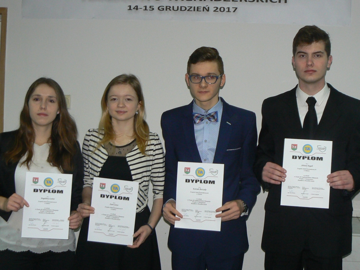 Ogólnopolski sukces uczennicy Ekonomika