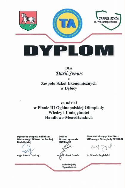 Dyplom Daria
