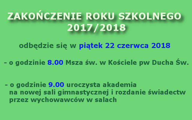 zakończenie roku 2017-2018