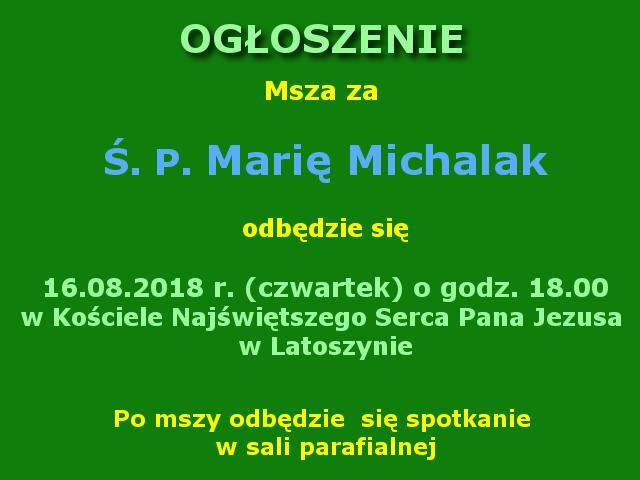 Msza za Marię Michalak