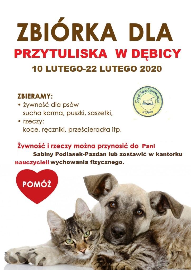 """Zbiórka dla """"Przytuliska"""" w Dębicy"""
