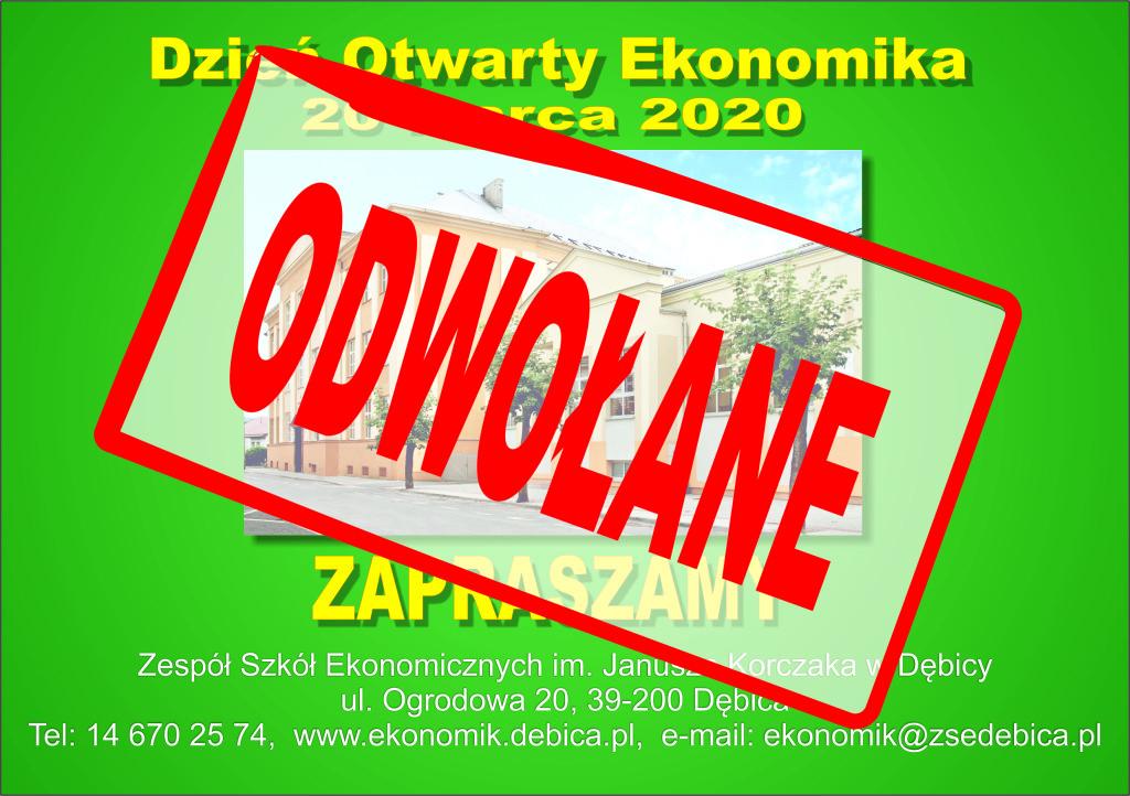 Zaproszenie na Dzień Otwarty 2020odwołany