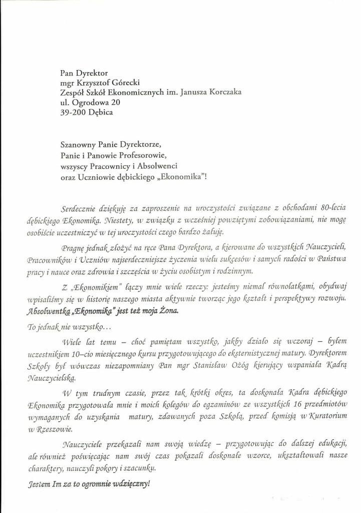 E.BRZOSOWSKI LIST 1