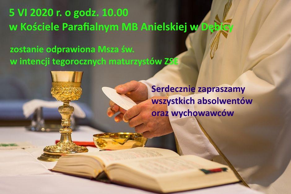 Msza św. w intencji tegorocznych maturzystów ZSE