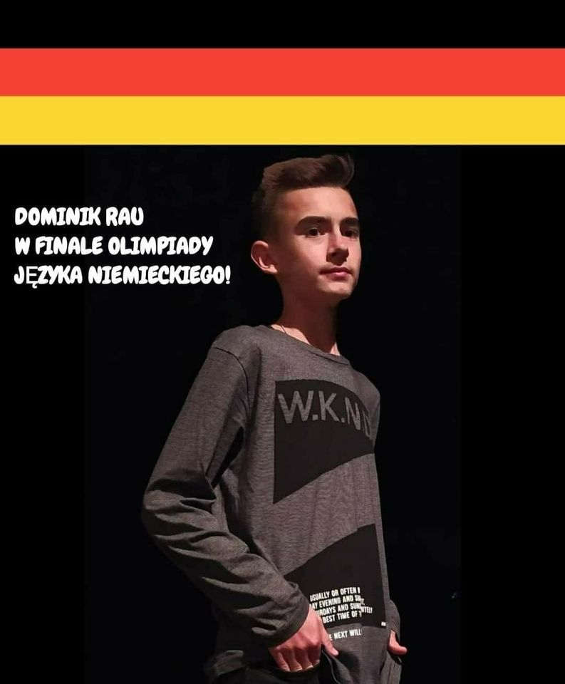 DOMINIK RAU z klasy II LC w etapie centralnym 44. Olimpiady Języka Niemieckiego