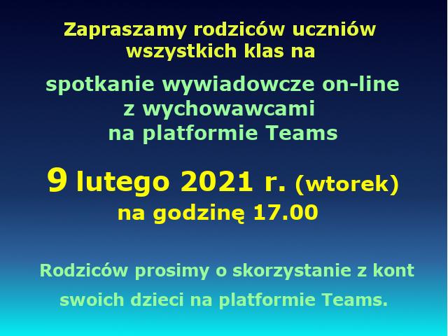wywiadówka online - luty 2021
