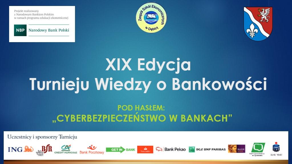 XIX Turniej Wiedzy o Bankowości