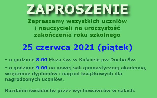 zakończenie roku 2020-2021